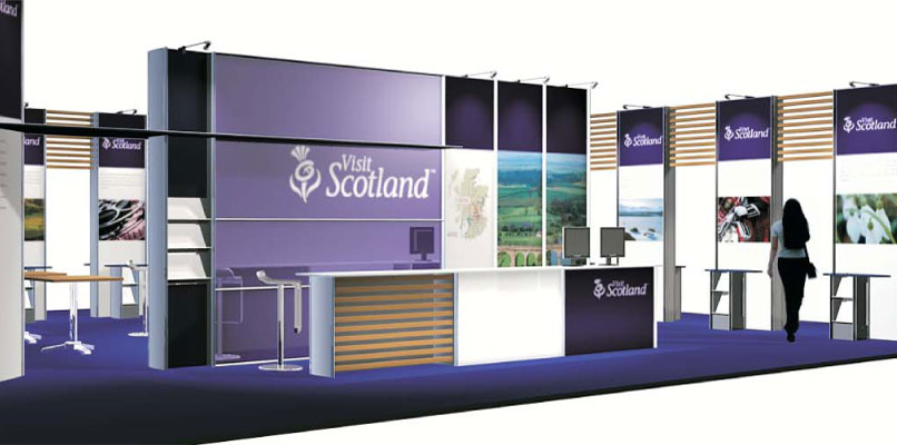 Exhibition stand for Ontrac Group and Visir Scotland